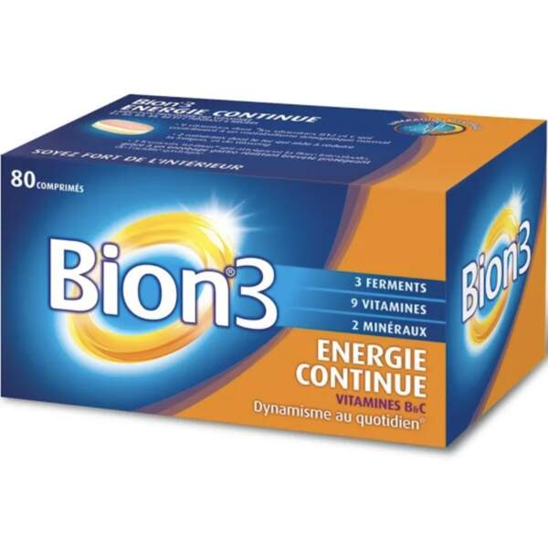 Vitamines contre la fatigue (60 comprimés) Bion®3 Vitalité; 15€ en pharmacies et parapharmacies