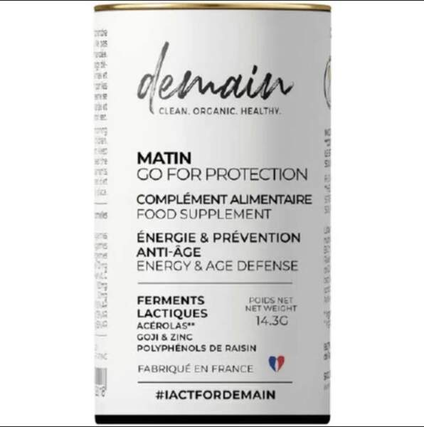 Complément Alimentaire Go For Protection (30 gélules, cure d'1 mois); Demain; 30€ sur demainbeauty.com
