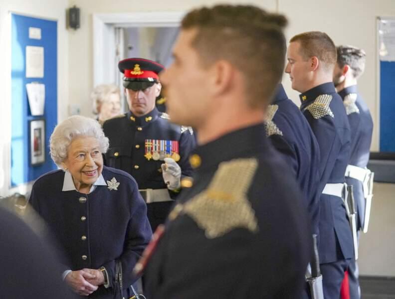 Ce mercredi 6 octobre, à l'instar de tous les événements officiels, Elizabeth II était radieuse.