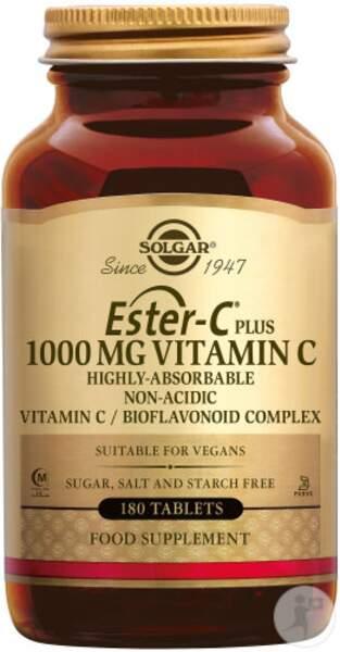 Ester-C Plus Vitamine C (90 comprimés); Solgar; 40€ en pharmacies et parapharmacies