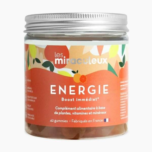 Gummies Energie Boost Physique et Mental (42 gummies); Les Miraculeux; 19,90€ sur lesmiraculeux.com