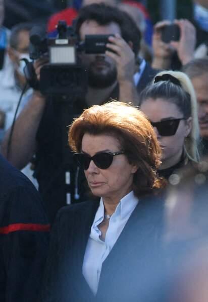 Dominique Tapie à son arrivée aux obsèques de Bernard Tapie, en la cathédrale de la Major, à Marseille, le 8 octobre 2021.