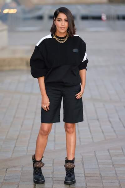 Leïla Bekhti au défilé Louis Vuitton SS 2022
