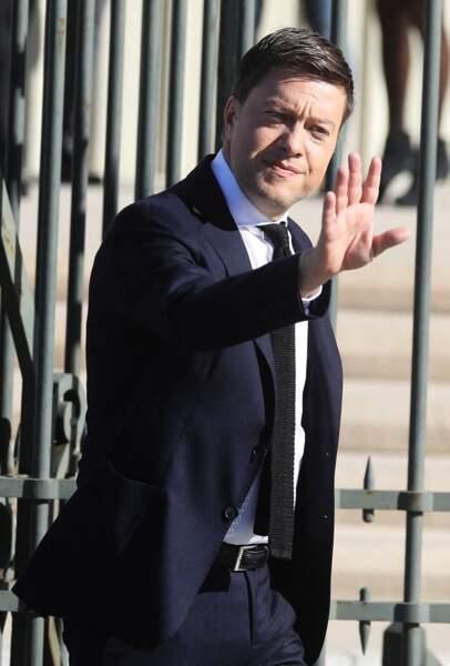 Benoît Payan, le maire de Marseille, présent aux obsèques de Bernard Tapie, en la cathédrale de la Major, à Marseille, le 8 octobre 2021.