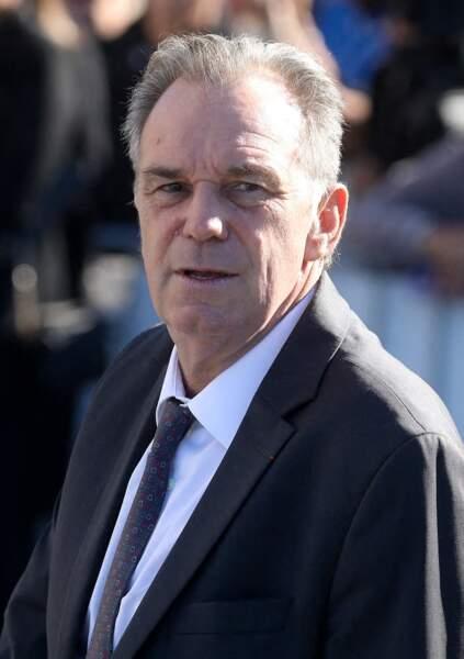 Renaud Muselier à son arrivée aux obsèques de Bernard Tapie, en la cathédrale de la Major, à Marseille, le 8 octobre 2021.