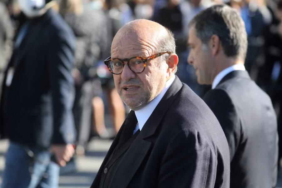 Hervé Temime aux obsèques de Bernard Tapie, en la cathédrale de la Major, à Marseille, le 8 octobre 2021.