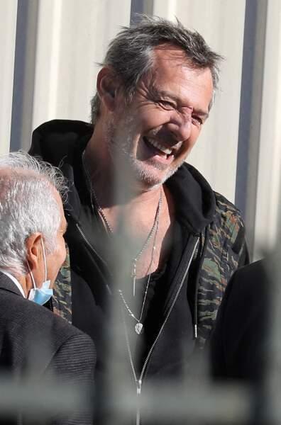 Jean-Luc Reichmann à son arrivée aux obsèques de Bernard Tapie, en la cathédrale de la Major, à Marseille, le 8 octobre 2021.