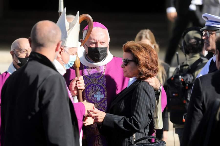 Dominique Tapie aux obsèques de Bernard Tapie, en la cathédrale de la Major, à Marseille, le 8 octobre 2021.