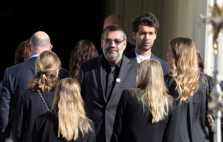 Stéphane Tapie aux obsèques de Bernard Tapie, en la cathédrale de la Major, à Marseille, le 8 octobre 2021.