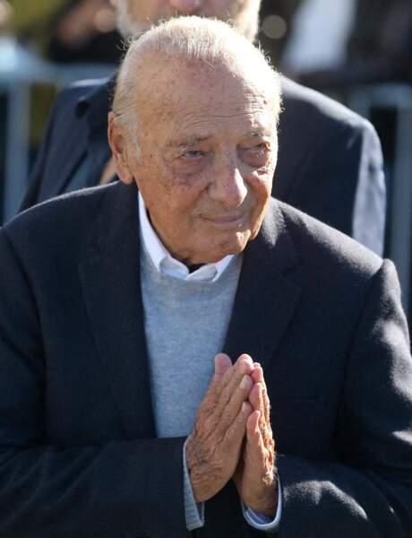 Jacques Séguéla aux obsèques de Bernard Tapie, en la cathédrale de la Major, à Marseille, le 8 octobre 2021.