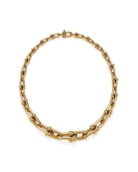 Le collier Tiffany porté par Leïla Bekhti lors du défilé SS 2022 Louis Vuitton