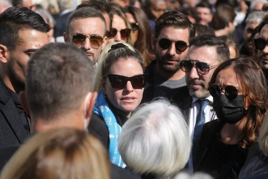 Sophie Tapie à la sortie des obsèques de Bernard Tapie, en la Cathédrale La Major, à Marseille, le 8 octobre 2021.