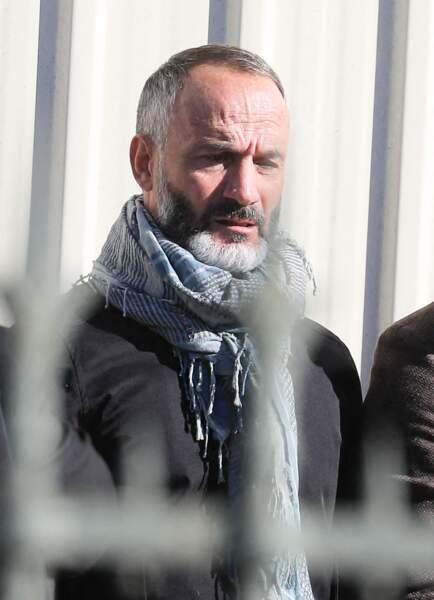 Eric Di Meco aperçu aux obsèques de Bernard Tapie, en la cathédrale de la Major, à Marseille, le 8 octobre 2021.