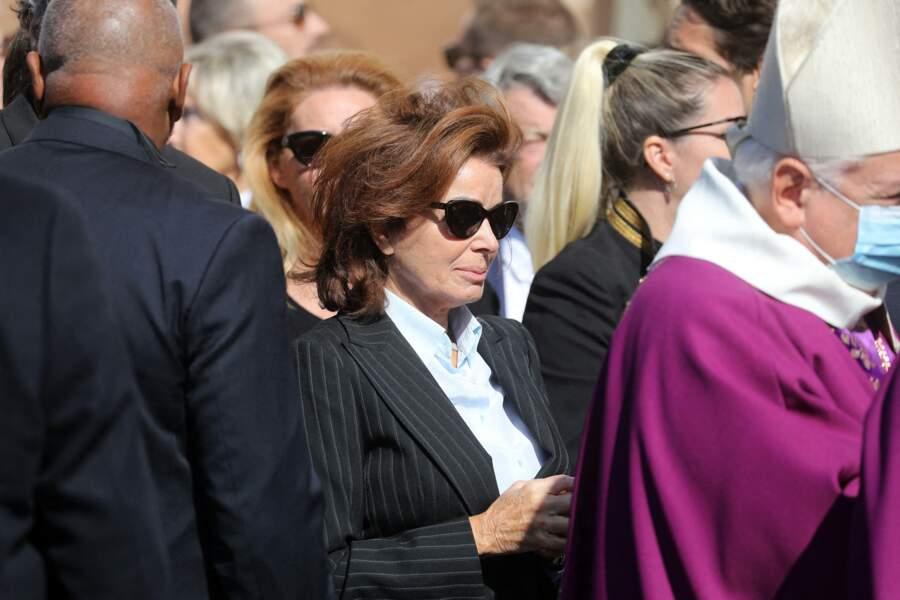 Dominique Tapie à sa sortie des obsèques de Bernard Tapie, en la Cathédrale La Major, à Marseille, le 8 octobre 2021.