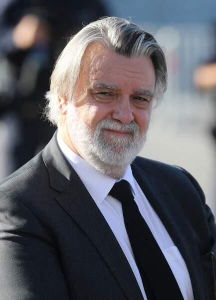 Laurent Nicollin aux obsèques de Bernard Tapie, en la cathédrale de la Major, à Marseille, le 8 octobre 2021.
