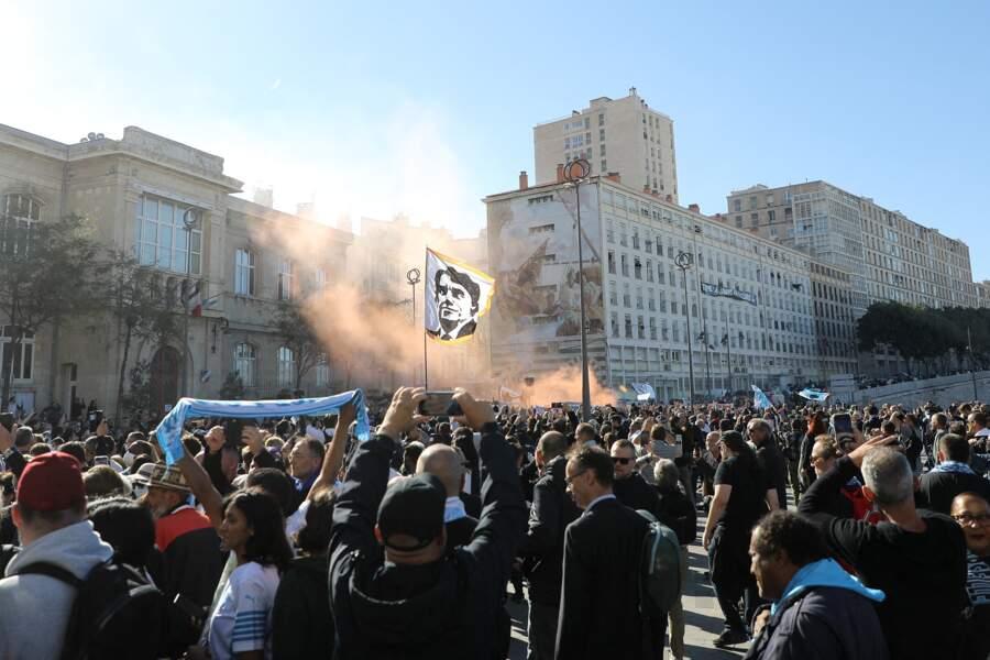 Les obsèques de Bernard Tapie ont été célébrées en la cathédrale de la Major, à Marseille, le 8 octobre 2021.