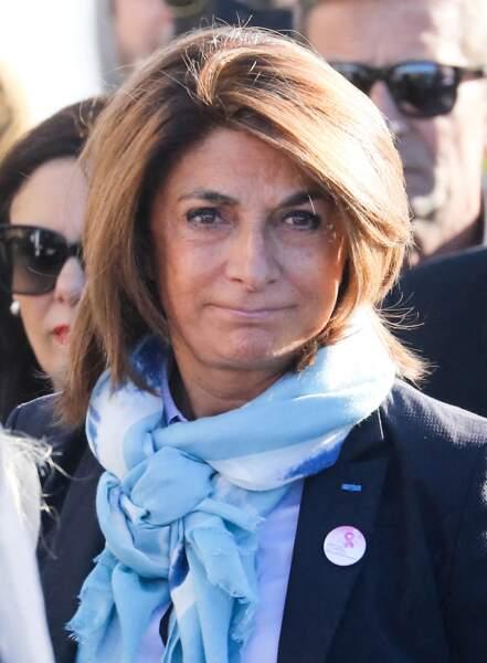 Martine Vassal aux obsèques de Bernard Tapie, en la cathédrale de la Major, à Marseille, le 8 octobre 2021.