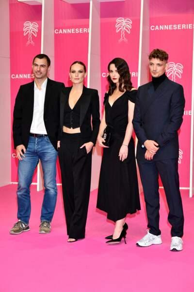 Olivier Dujols, Ana Girardot, Vera Kolesnikova  et Niels Schneider à Cannes, le 9 octobre