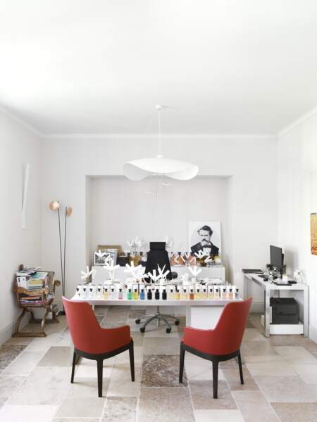Le bureau de Jacques Cavallier-Belletrud, le parfumeur Louis Vuitton