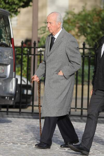 L'ancien Premier ministre de 92 ans, Edouard Balladur invité aux obsèques d'Etienne Mougeotte en l'église Saint-François-Xavier à Paris, ce 13 octobre 2021